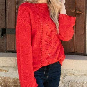 Grace and Lace red sweater